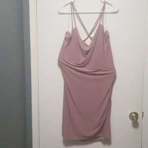 Mauve/blush slinky dress
